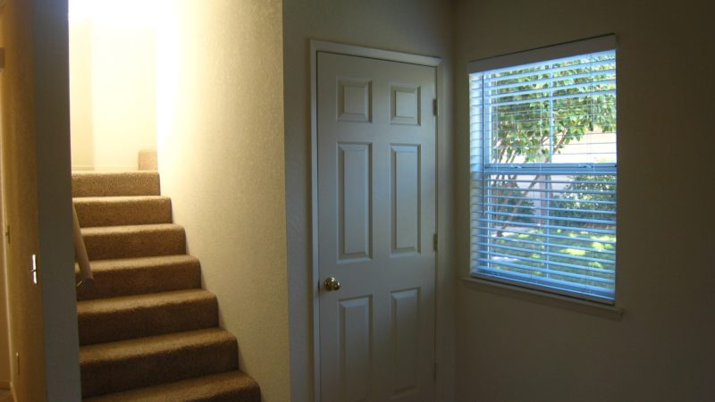 photo of windsor court end unit closet and stairs