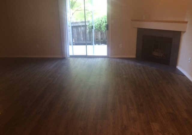 willow park remodeled end townhome living room with laminate flooring