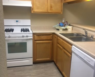 photo of willow park middle remodeled kitchen with laminate flooring