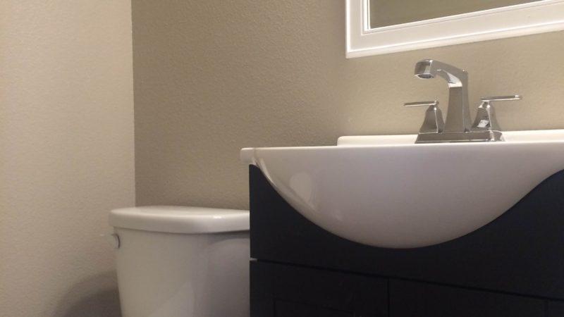 picture of floor plan b 1/2 bath vanity